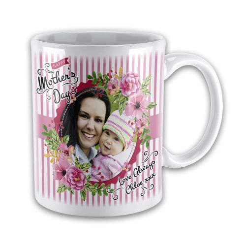 Personalised Happy Mothers Day Image & Text Novelty Gift Mug